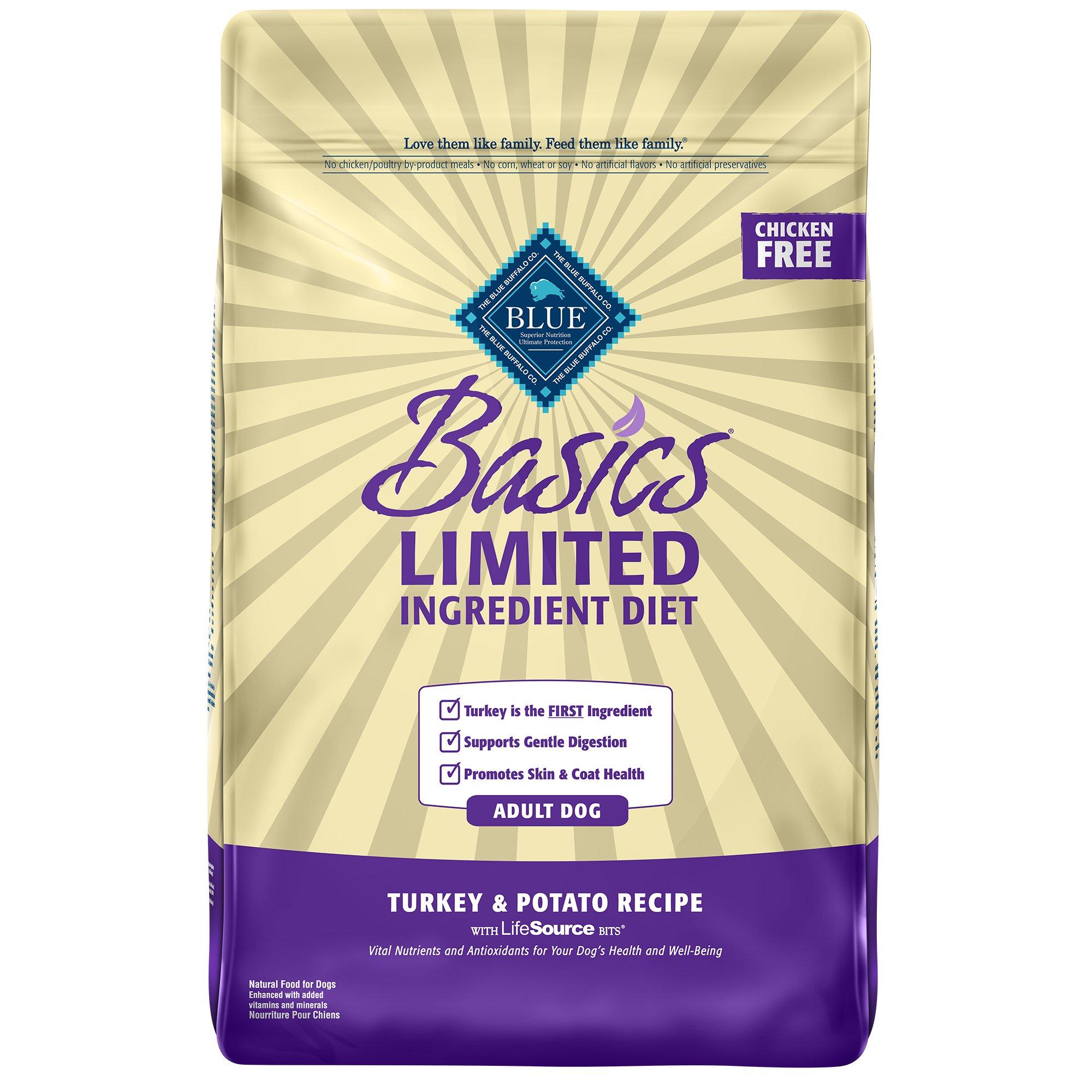 Blue Buffalo Basics Limited Ingredient Formula Turkey & Potato Adult Dry Dog Food