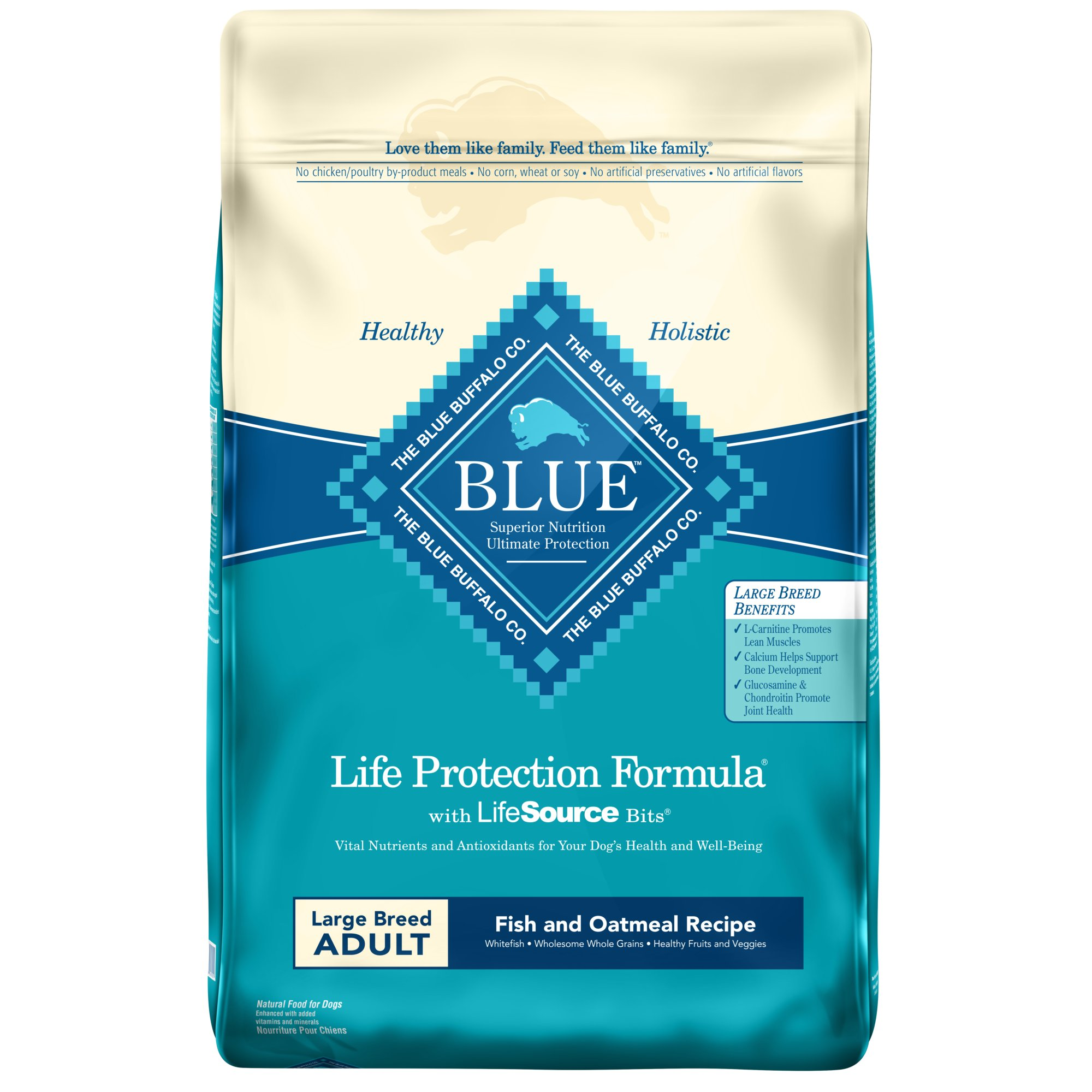 Blue Buffalo Large Breed Fish & Oatmeal Adult Dry Dog Food