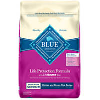 Blue Buffalo Small Breed Senior Life Protection Chicken & Brown Rice Formula Adult Dry Dog Food