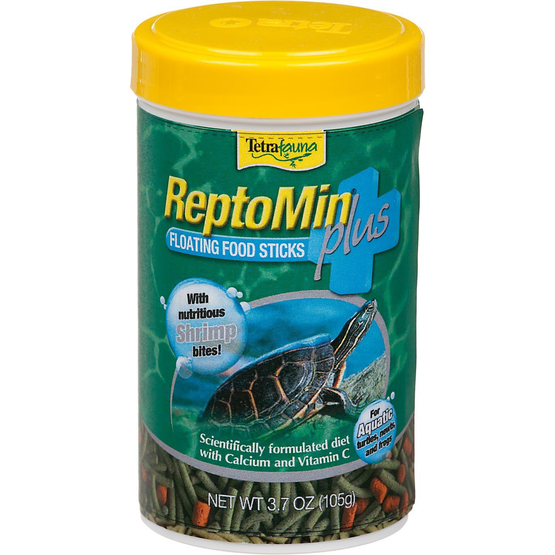 TetraFauna ReptoMin Plus Floating Food Sticks with Shrimp Bites
