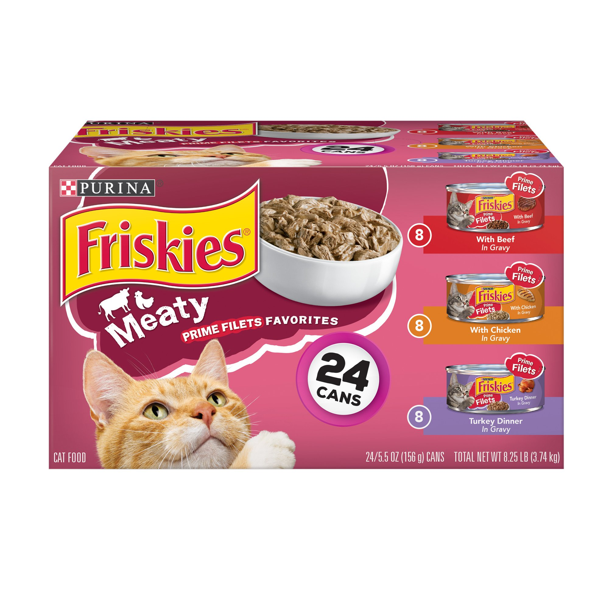 Friskies Prime Fillets Meaty Favorites Variety Pack Canned Cat Food