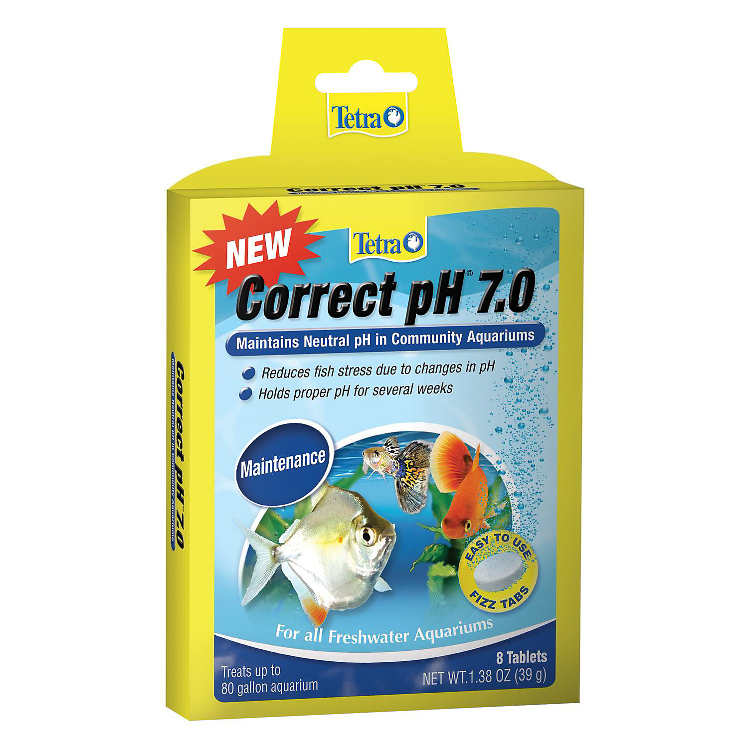 Tetra Correct Ph 7.0 Fizz Tabs Pack Of 8 Tablets