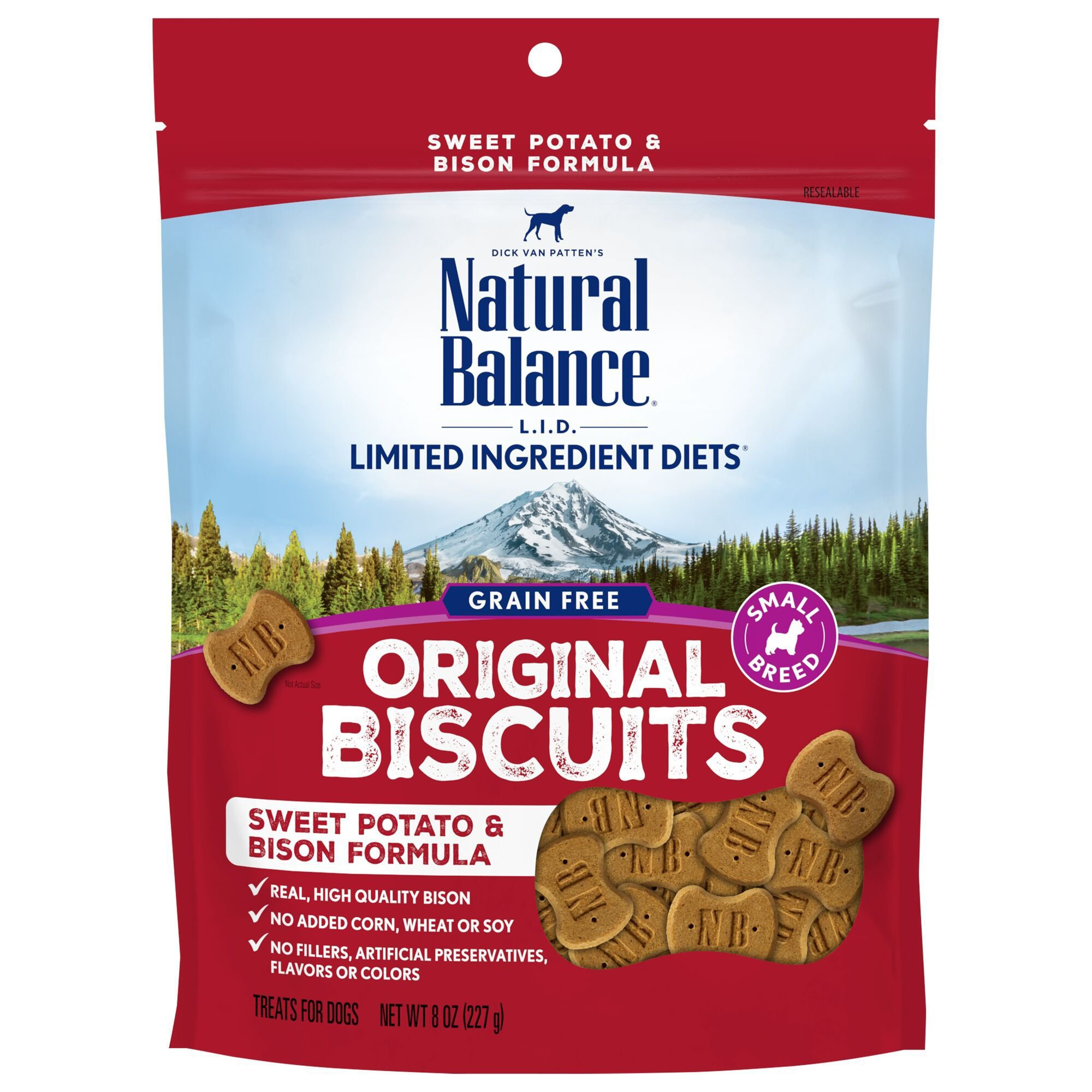 Natural Balance L.I.T. Limited Ingredient Treats Sweet Potato & Bison Formula Small Breed Dog Treats