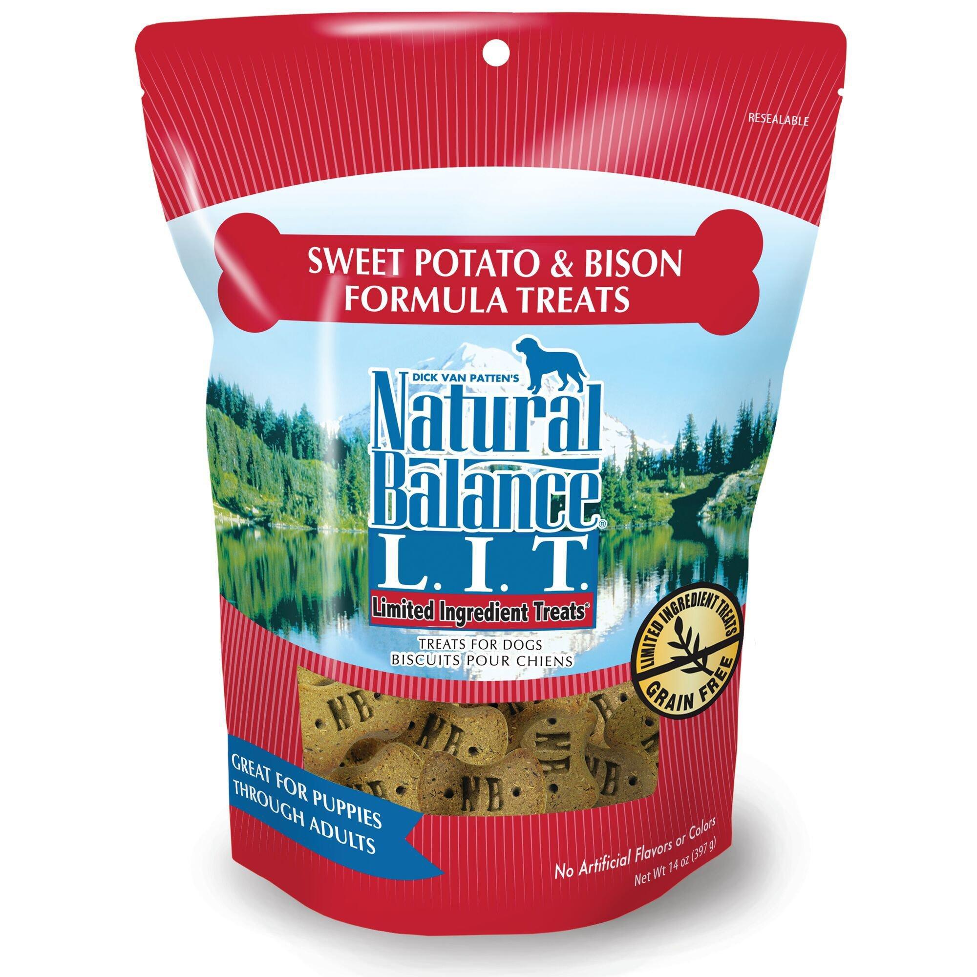 Natural Balance L.I.T. Limited Ingredient Treats Sweet Potato & Bison Formula Dog Treats