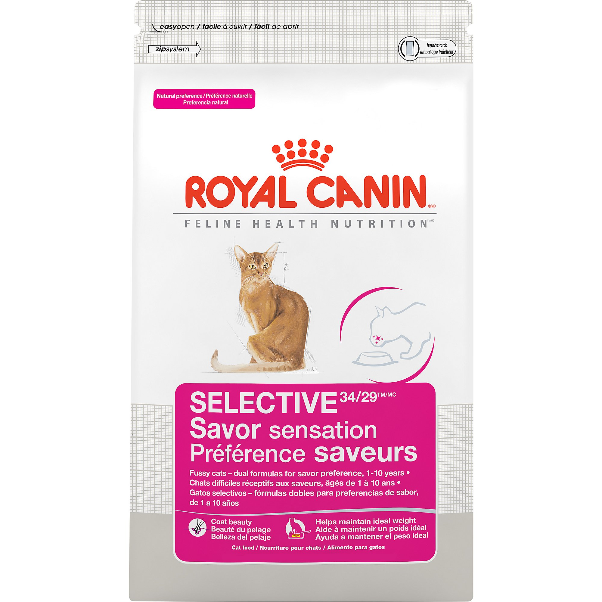 Royal Canin Feline Health Nutrition Selective 34/29 Savor Sensation Adult Dry Cat Food