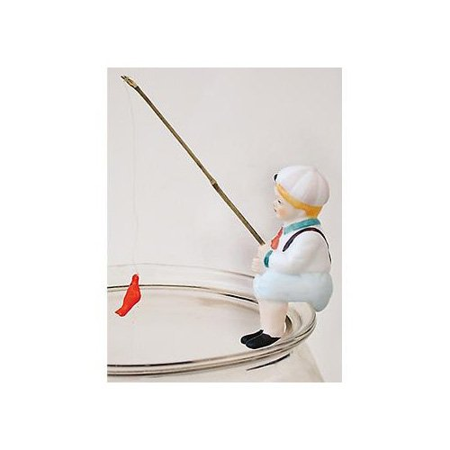 Zoo Med Steve Fishing Boy Hanging Aquarium Ornament