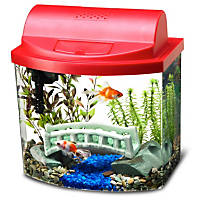 Aqueon Mini Bow Desktop Aquarium Kit in Red