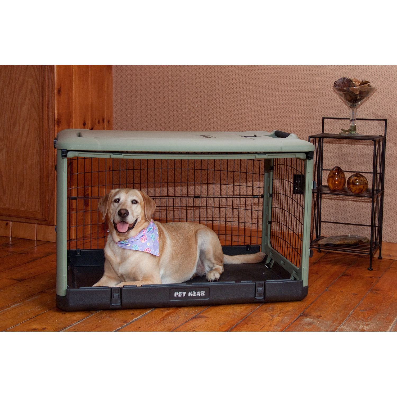 Pet Gear The Other Door Sage Steel Crate
