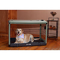 Pet Gear The Other Door Sage Steel Crate