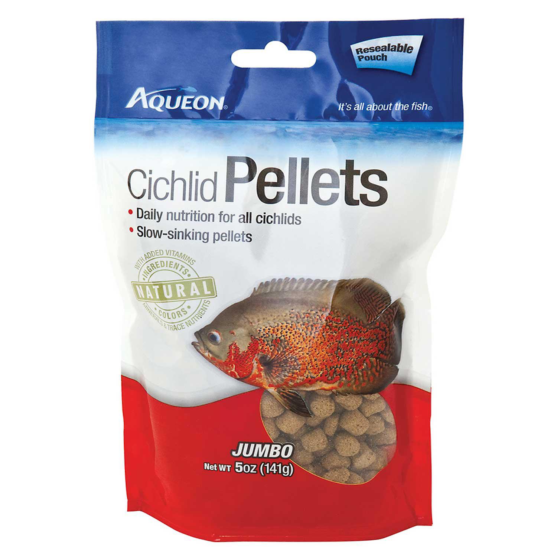 Aqueon Jumbo Pellet Cichlid Food 5 Oz.