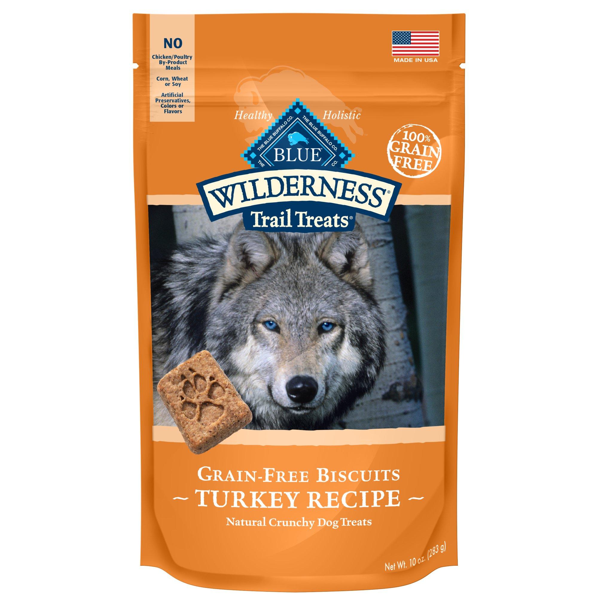 Blue Buffalo Wilderness Trail Treats Grain-Free Turkey Dog Biscuits