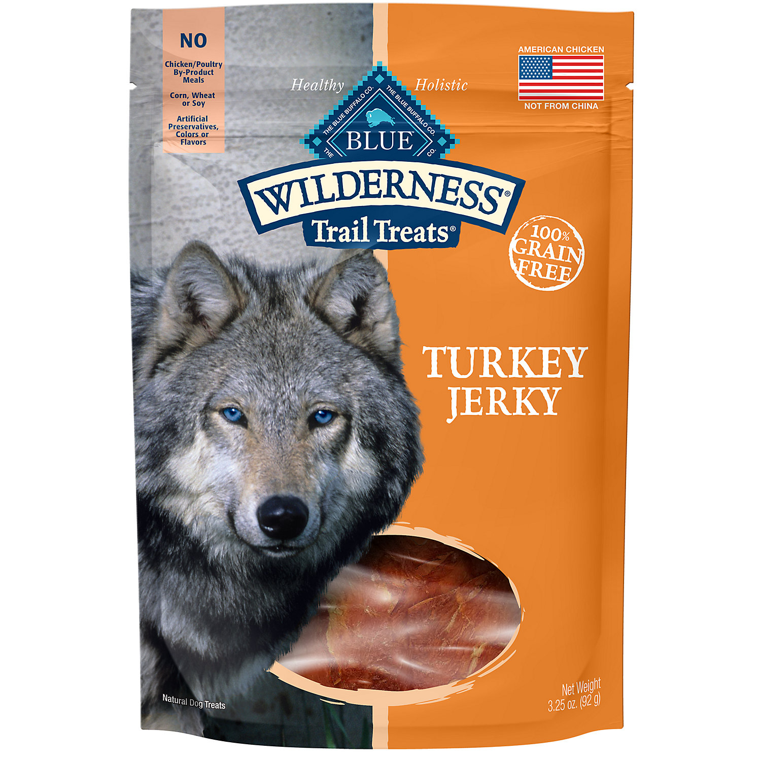 Blue Buffalo Wilderness Turkey Dog Jerky Treats 3.25 Oz.