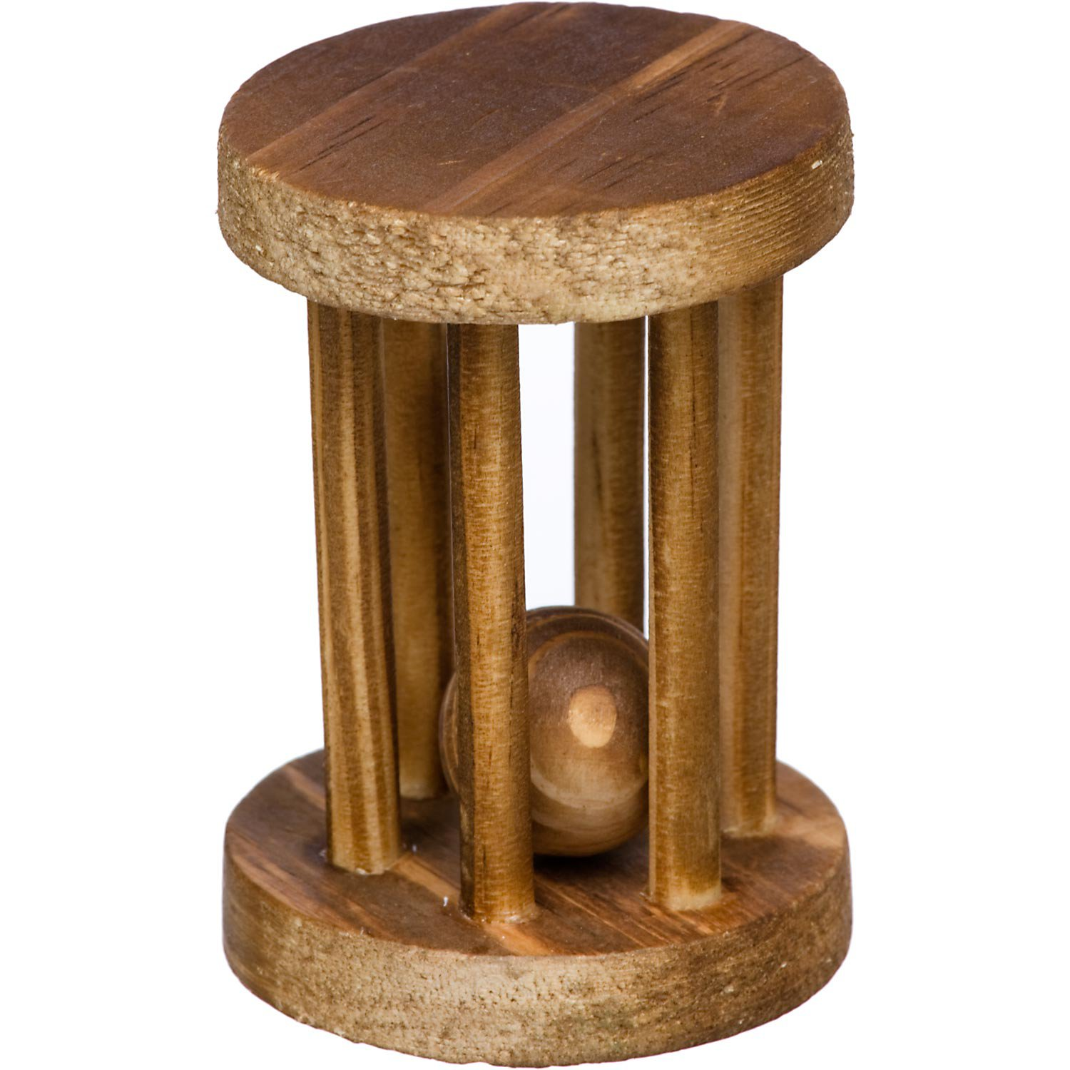 Planet Petco Wood Wheel with Ball Small Animal Chew Toy