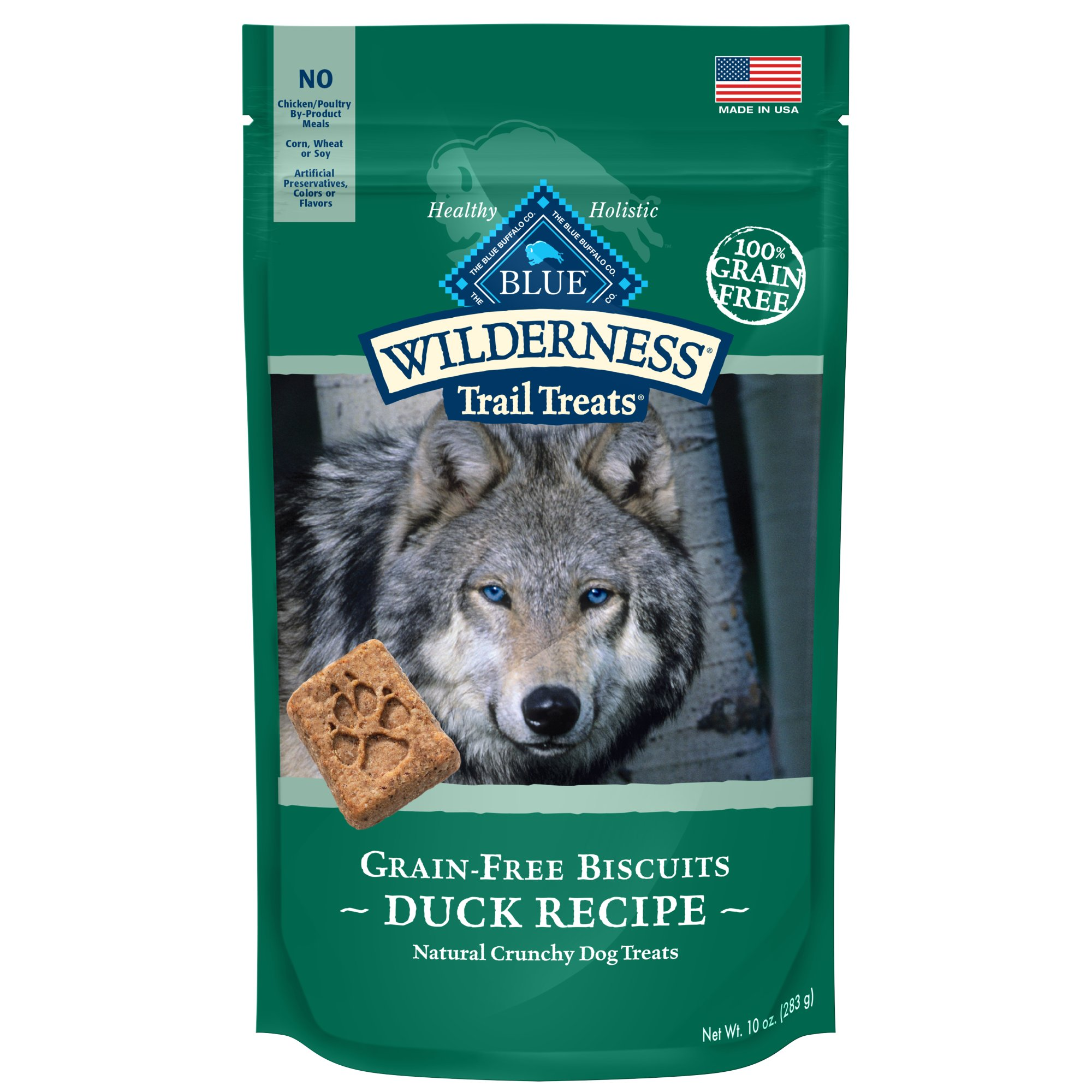 Blue Buffalo Wilderness Trail Treats Grain-Free Duck Dog Biscuits