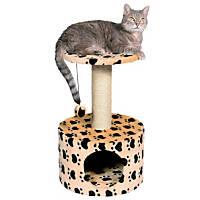 Trixie DreamWorld Toledo Tan Paw Print Cat Condo