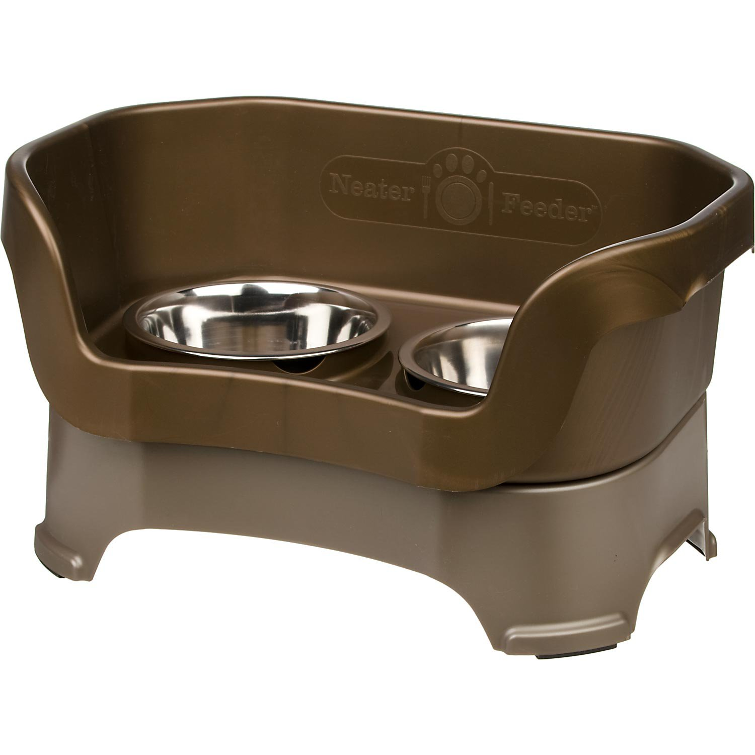 Neater Brands Bronze Elevated Pet Diners