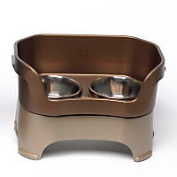 Neater Brands Bronze Elevated Dog Diner