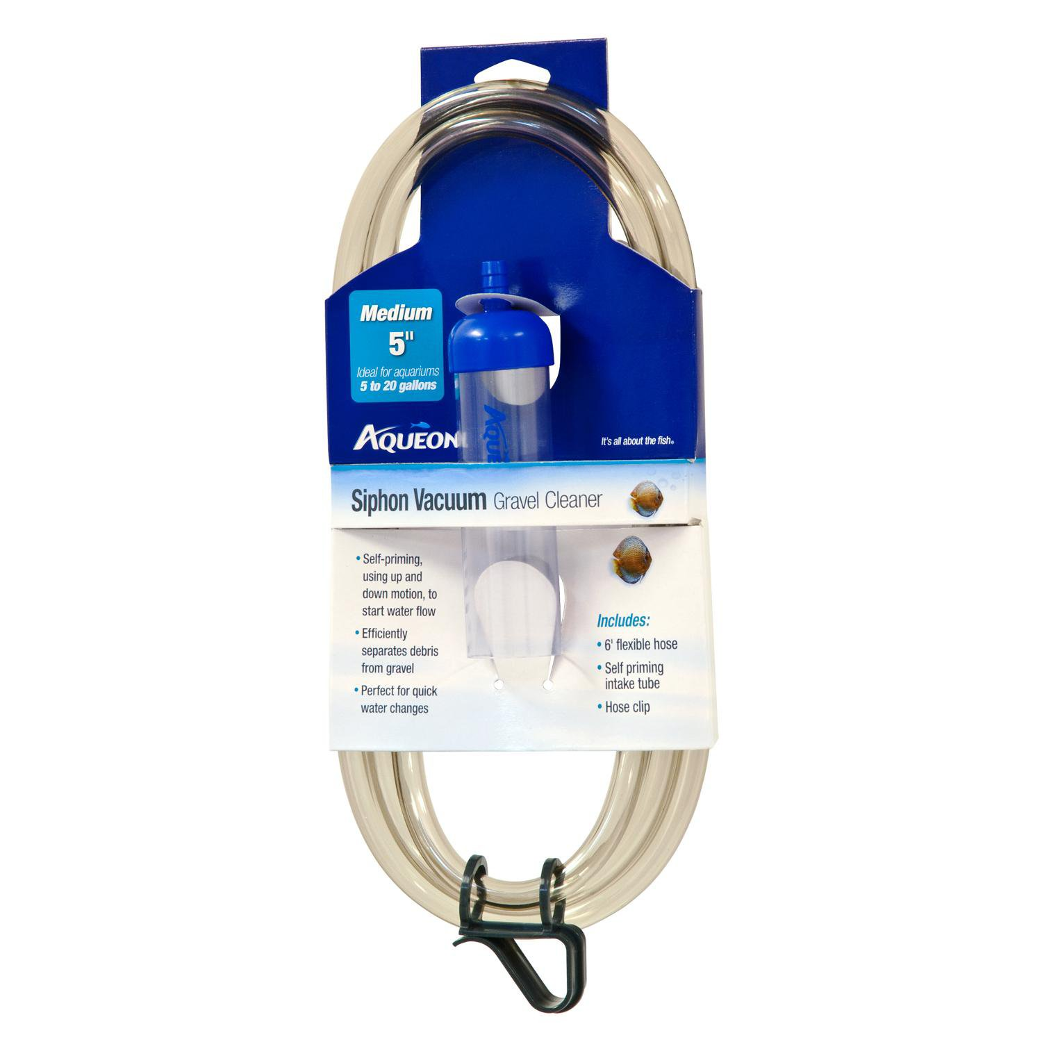 Aqueon siphon vacuum aquarium gravel cleaner medium petco for Fish tank vacuum