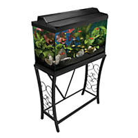 Aquatic Fundamentals Black Scroll Aquarium Stand, 29 Gallons