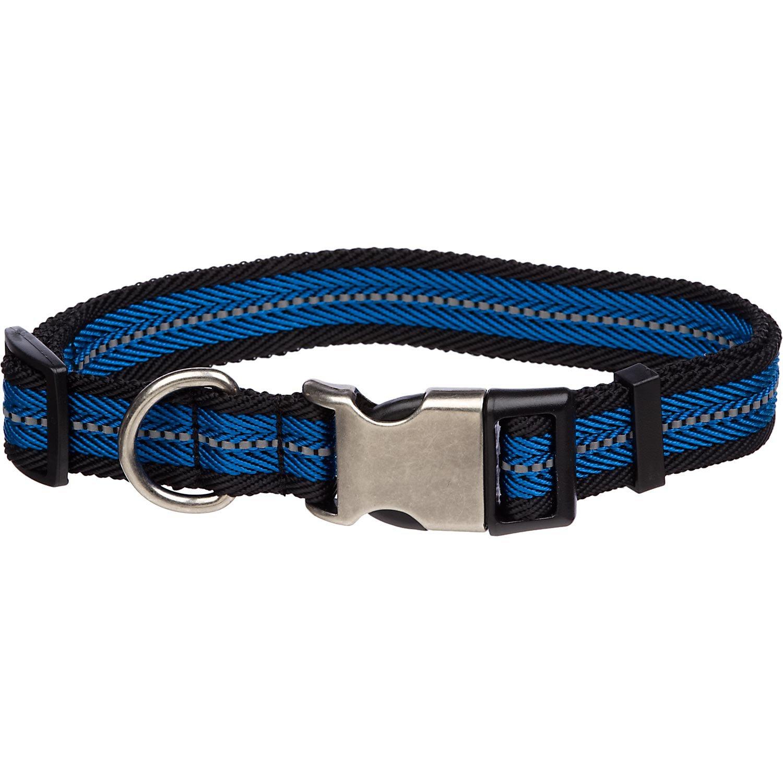 Petco Reflective Adjustable Blue Dog Collar