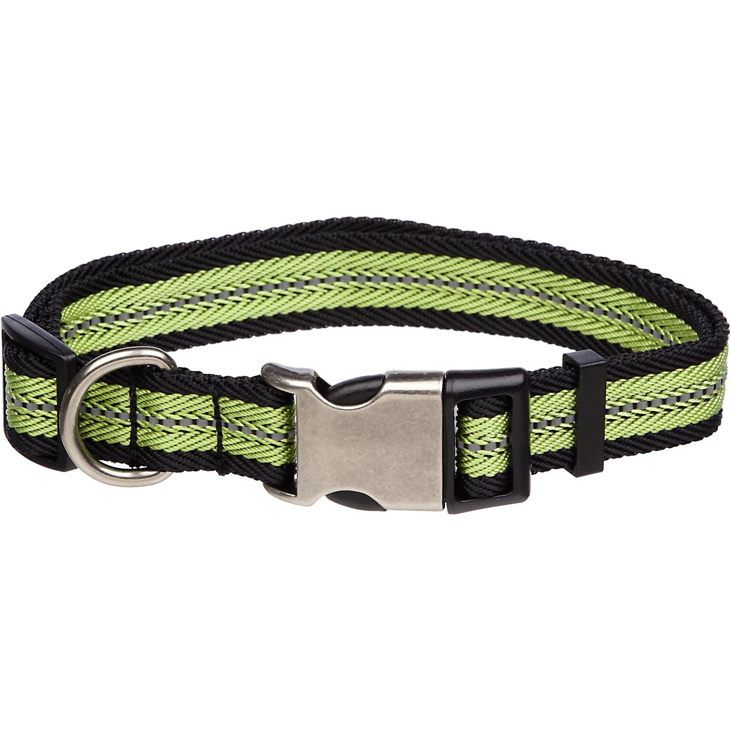 Petco Reflective Adjustable Green Dog Collar