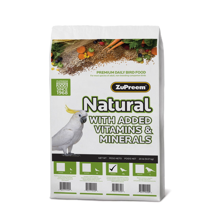 ZuPreem AvianMaintenance Natural Bird Diet for Parrots & Conures