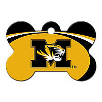 Quick-Tag Missouri Tigers NCAA Bone Personalized Engraved Pet ID Tag, Large