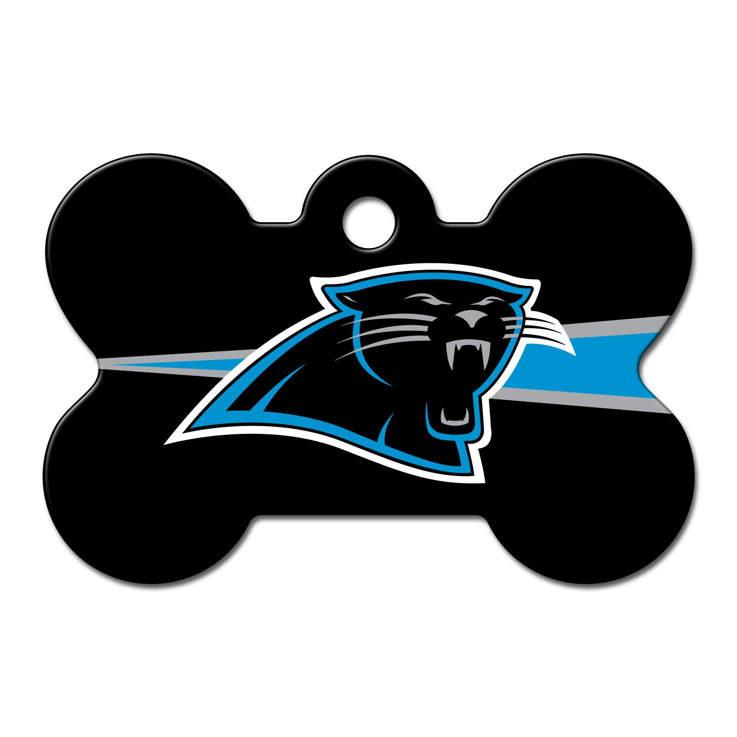 Quick-Tag Carolina Panthers NFL Bone Personalized Engraved Pet ID Tag, Large