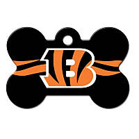 Quick-Tag Cincinnati Bengals NFL Bone Personalized Engraved Pet ID Tag, Large