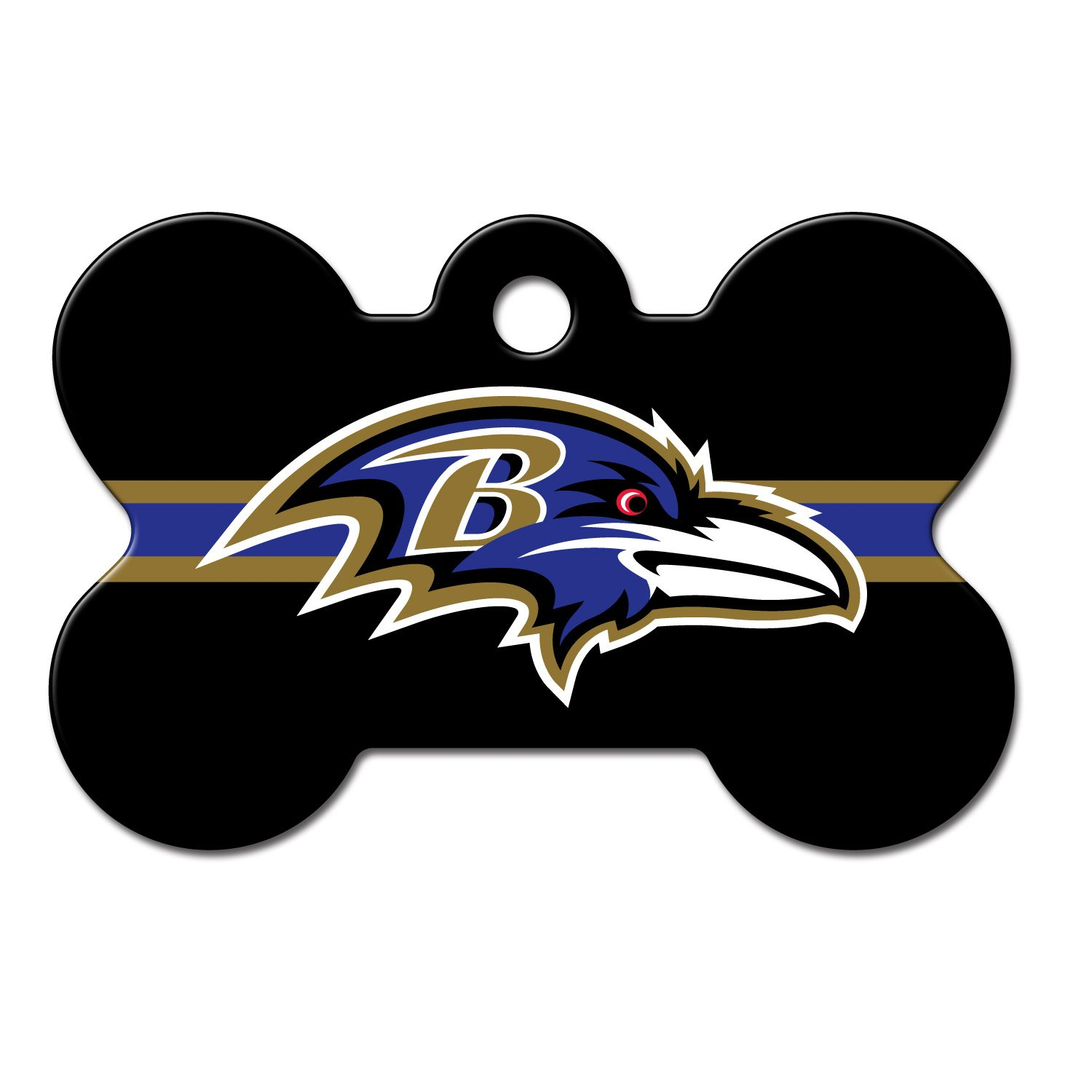 Quick-Tag Baltimore Ravens NFL Bone Personalized Engraved Pet ID Tag, Large