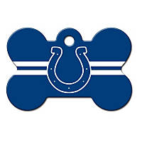 Quick-Tag Indianapolis Colts NFL Bone Personalized Engraved Pet ID Tag, Large