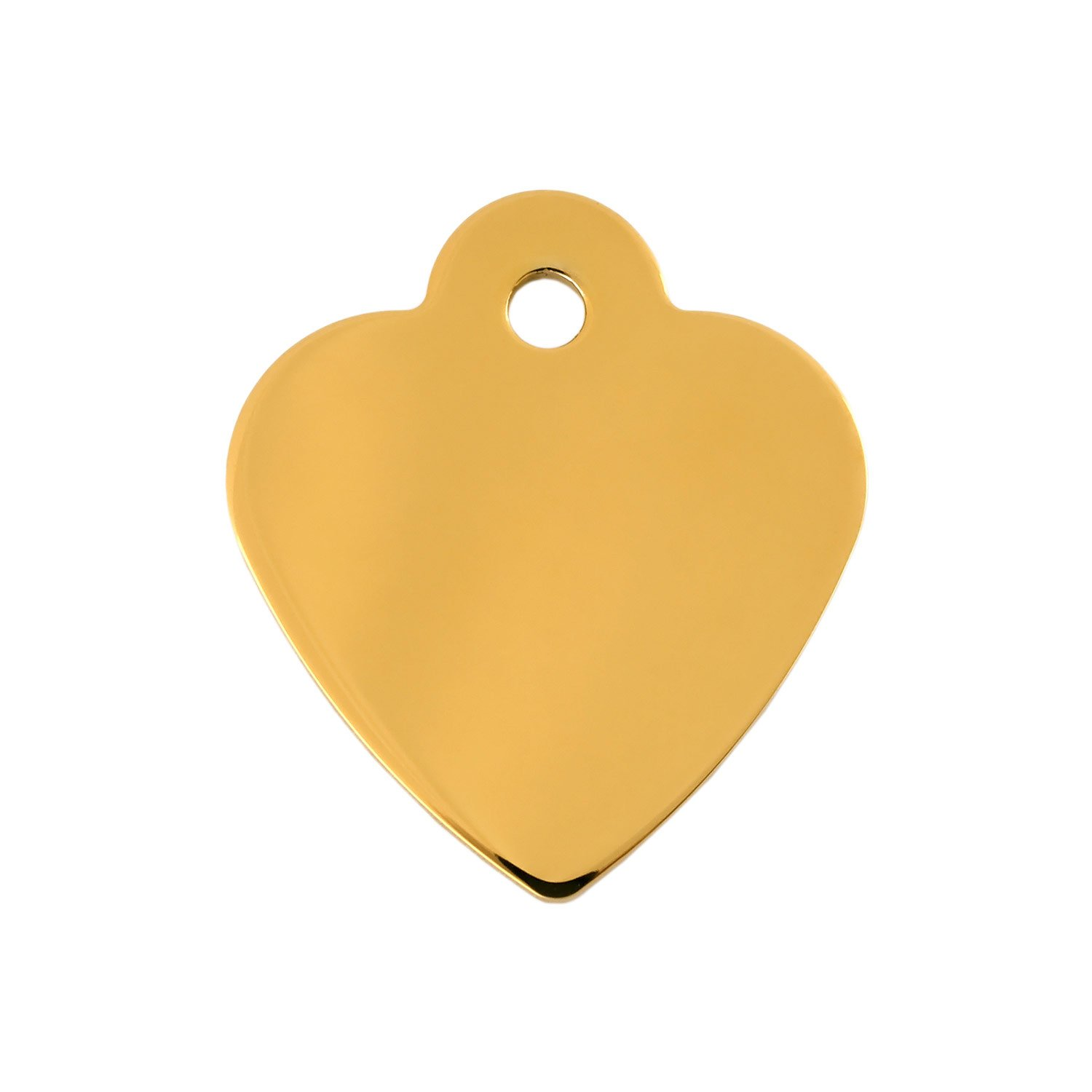 Quick-Tag Gold Heart Personalized Engraved Pet ID Tag, Small