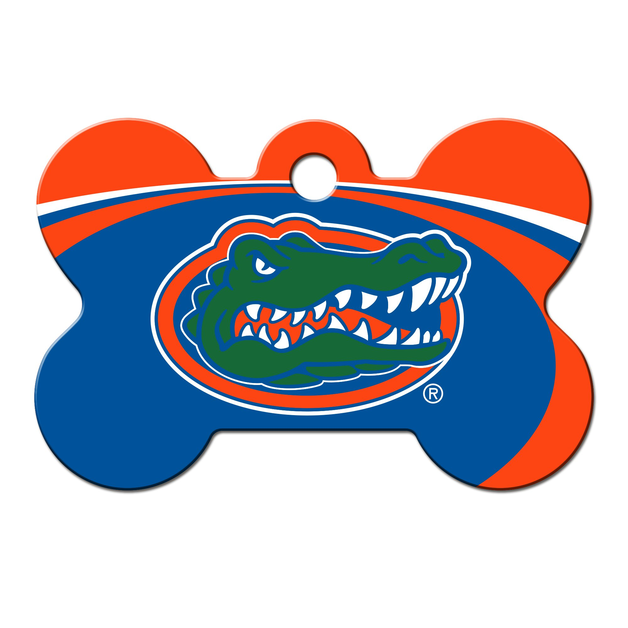Quick-Tag Florida Gators NCAA Bone Personalized Engraved Pet ID Tag, Large