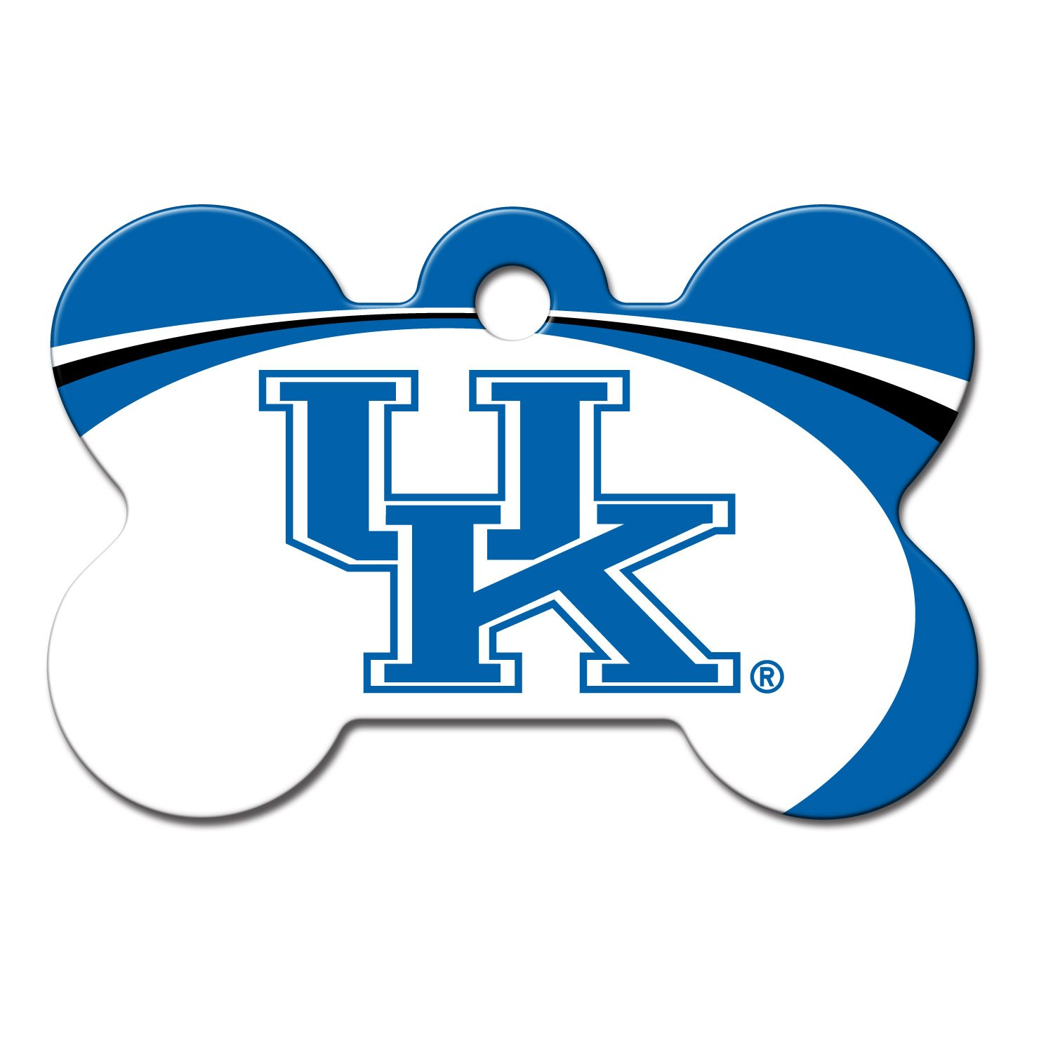 Quick-Tag Kentucky Wildcats NCAA Bone Personalized Engraved Pet ID Tag, Large