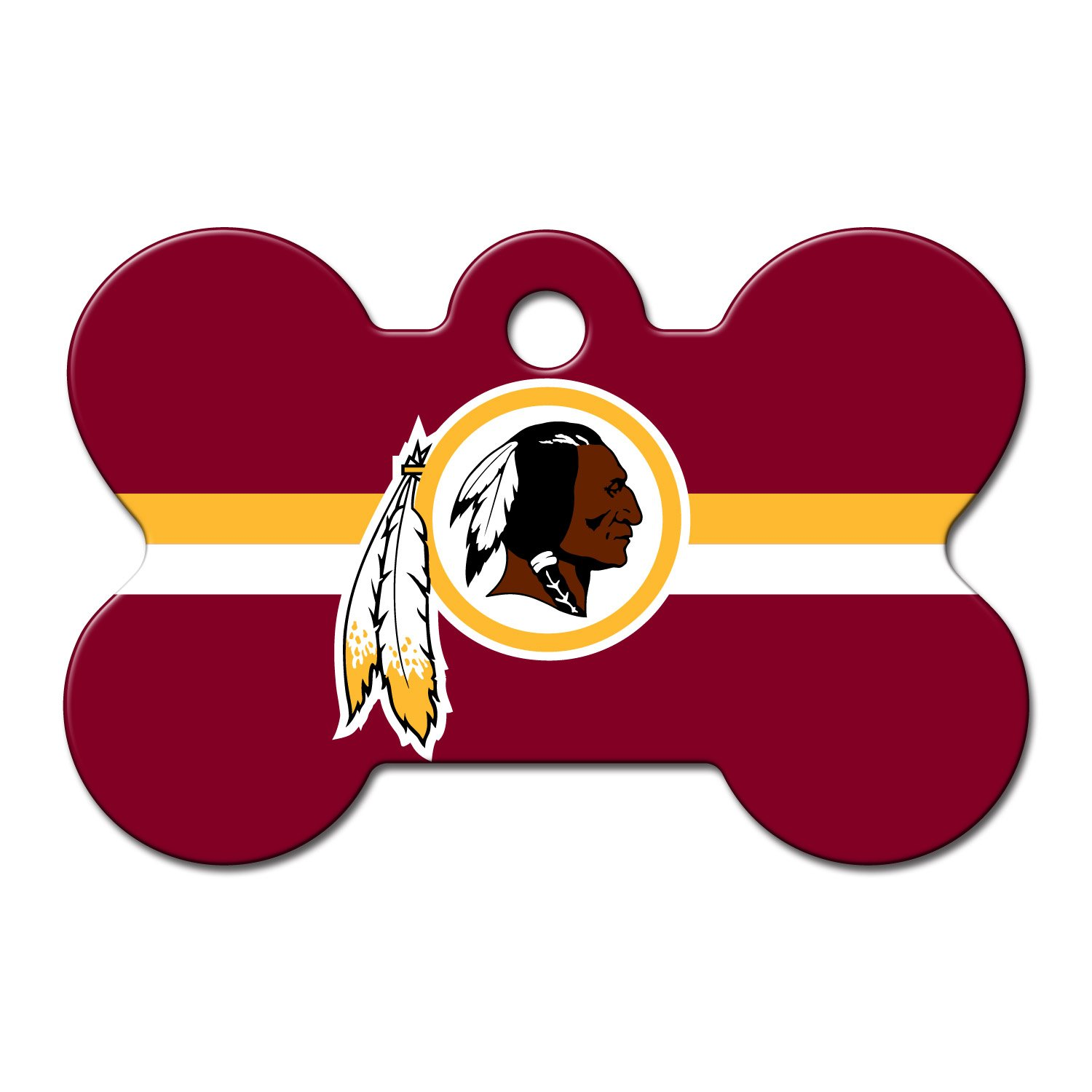 Quick-Tag Washington Redskins NFL Bone Personalized Engraved Pet ID Tag, Large