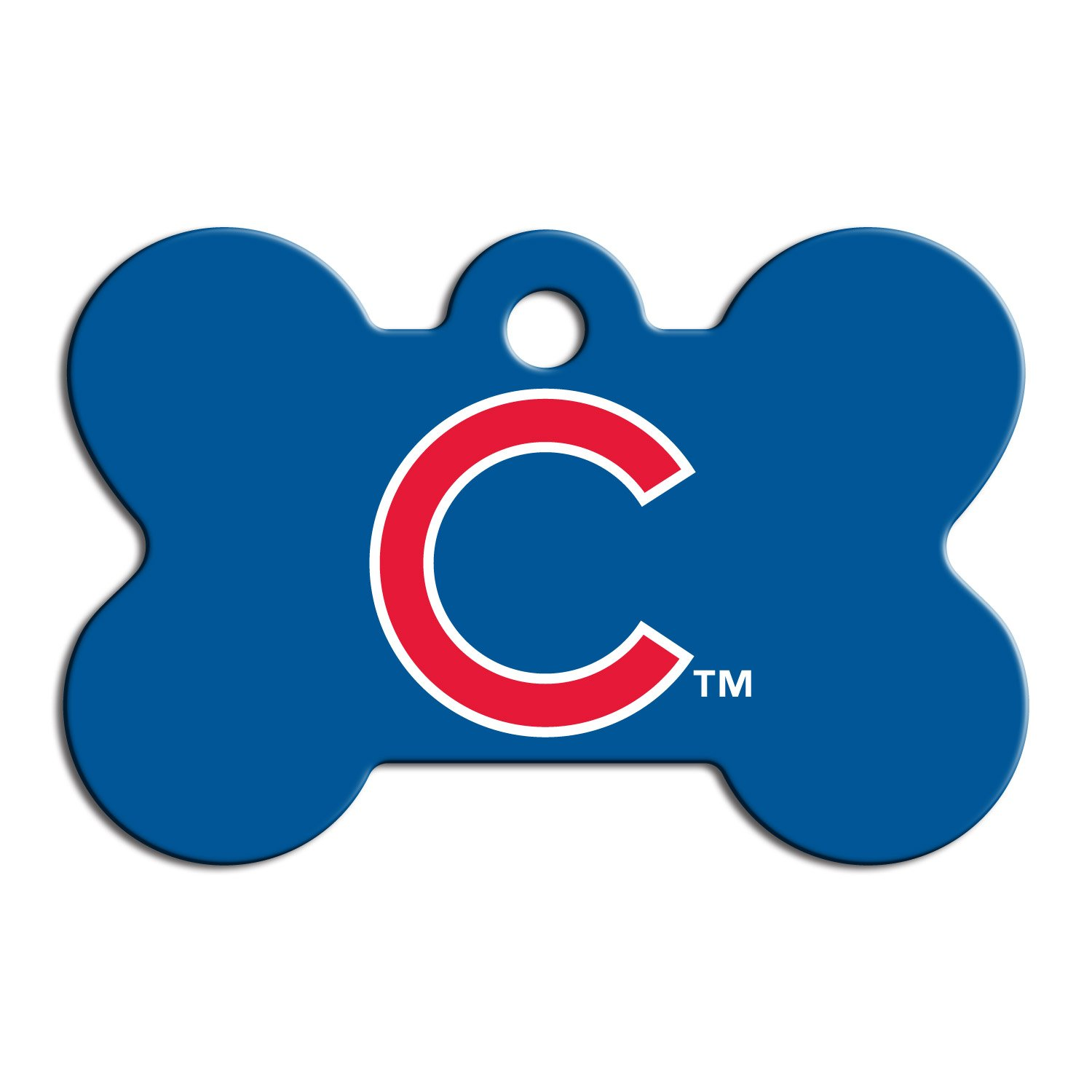 Quick-Tag Chicago Cubs MLB Bone Personalized Engraved Pet ID Tag, Large