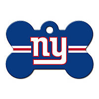 Quick-Tag New York Giants NFL Bone Personalized Engraved Pet ID Tag, Large