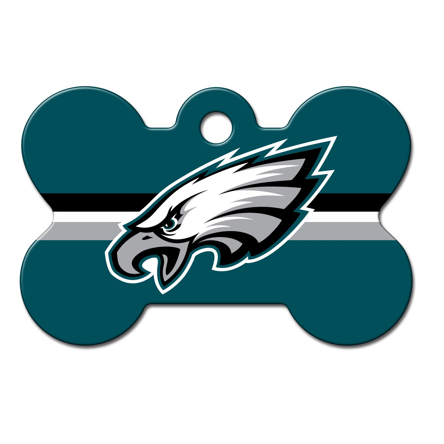 Quick-Tag Philadelphia Eagles NFL Bone Personalized Engraved Pet ID Tag, Large