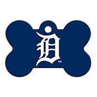Quick-Tag Detroit Tigers MLB Bone Personalized Engraved Pet ID Tag, Large