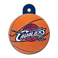 Quick-Tag Cleveland Cavaliers NBA Circle Personalized Engraved Pet ID Tag, Large