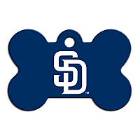 Quick-Tag San Diego Padres MLB Bone Personalized Engraved Pet ID Tag, Large