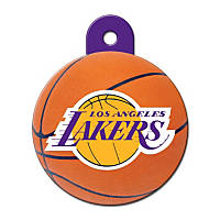 Quick-Tag LA Lakers NBA Circle Personalized Engraved Pet ID Tag, Large