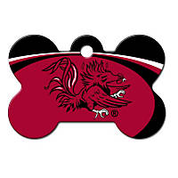 Quick-Tag South Carolina Gamecocks NCAA Bone Personalized Engraved Pet ID Tag, Large