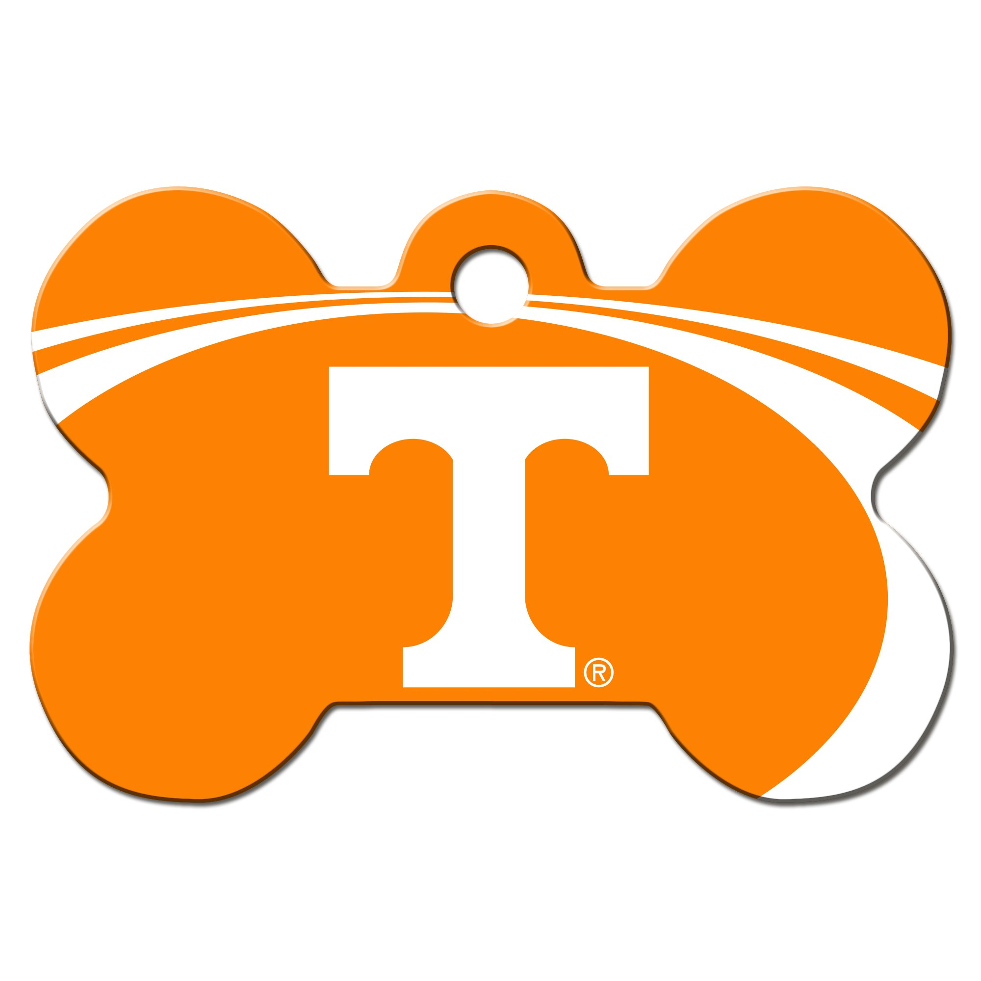 Quick-Tag Tennessee Volunteers NCAA Bone Personalized Engraved Pet ID Tag, Large