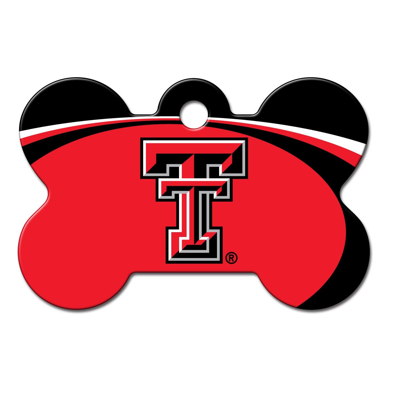 Quick-Tag Texas Tech Raiders NCAA Bone Personalized Engraved Pet ID Tag, Large