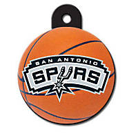 Quick-Tag San Antonio Spurs NBA Circle Personalized Engraved Pet ID Tag, Large