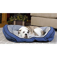 K&H Bolster Couch Dog Bed in Blue & Gray
