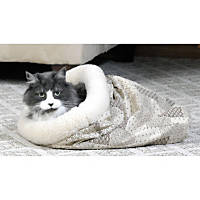K&H Tan Kitty Crinkle Sack Cat Hideaway