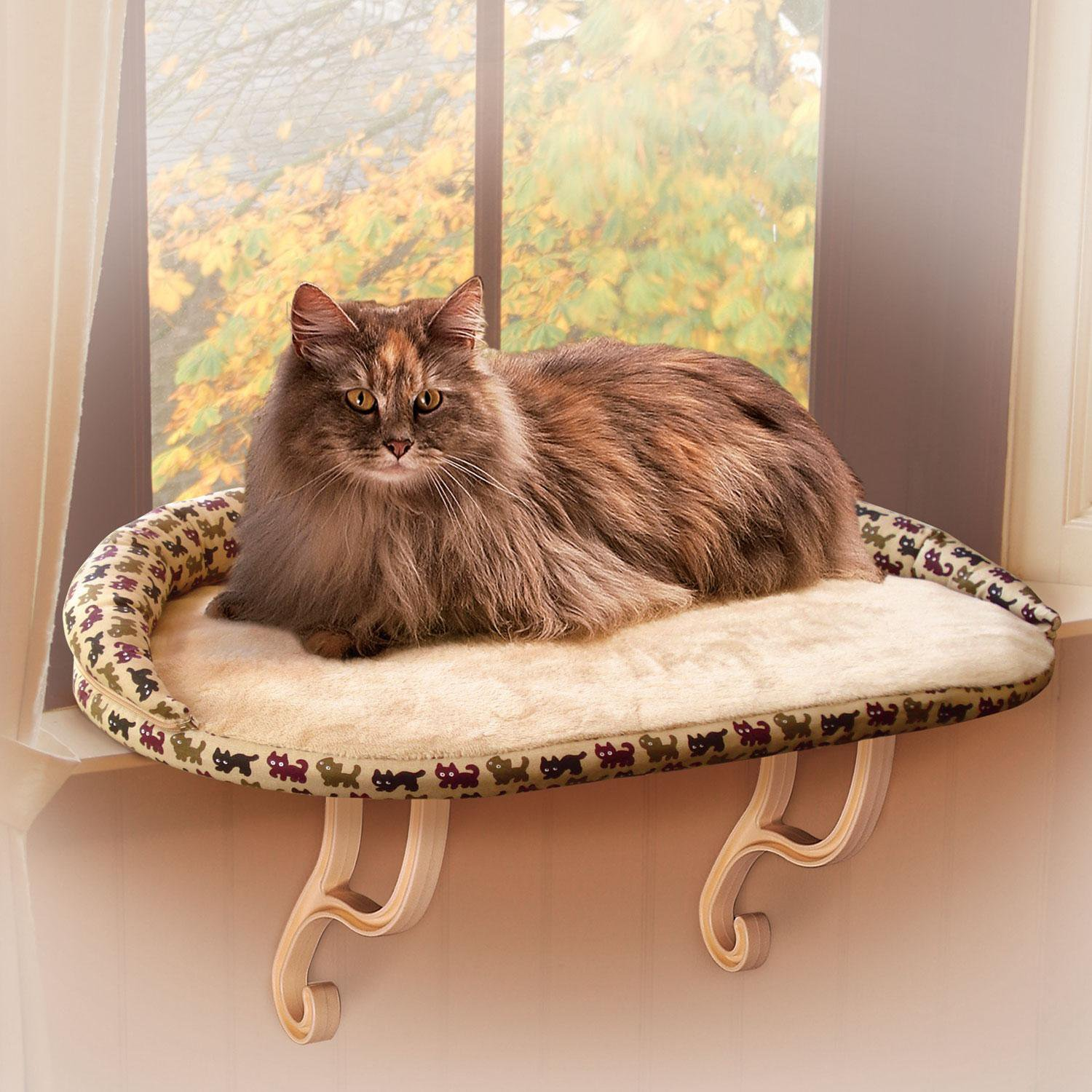 K Amp H Kitty Sill Bolster Deluxe Cat Window Perch Petco