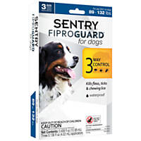 Sentry FIPROGUARD Dog & Puppy Topical Flea & Tick Treatment, 89 to 132 lbs.